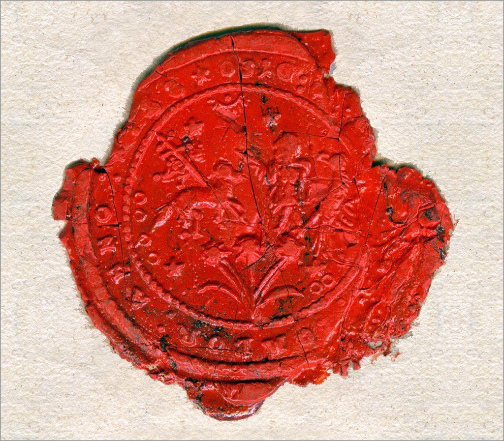 Pečat somborske komorske opštine, 1727. god.
