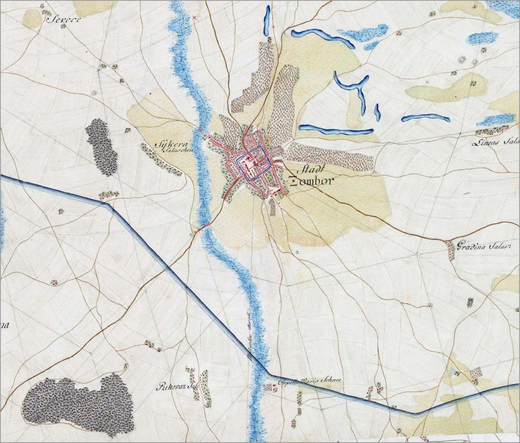 Plan Sombora Na Mapi Iz 1782 85 Godine Ravnoplov
